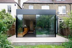 Modern glass extension on a period home