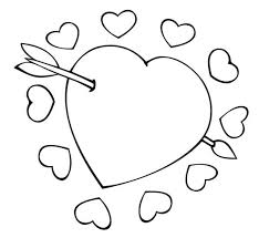 Valentines Heart Coloring Pages Heart Color Page Coloring Pages