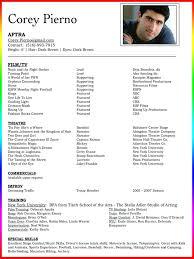 Movie Theatre Resume Professional Theatre Resume Elmifermetures Com