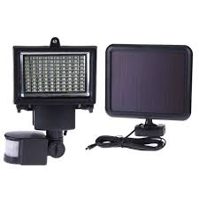100 led intelligent solar motion sensor outdoor wall lamp garden light