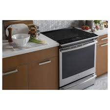 ge induction range. GE Profile 5.3 Total Cu. Ft. Slide-in Self-Clean Induction Convection Range W/ Storage Drawer \u0026 WiFi Connect Ge