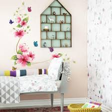 Wall Decorations For Living Room Flower Butterfly Wall Stickers Living Room Flower Wall Decal
