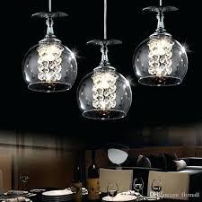glass ball chandelier anthropologie modern pendant lamps led crystal light
