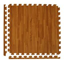 greatmats wood grain reversible dark wood tan 24 in x 24 in x