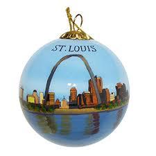 art studio company hand painted glass ornament st louis missouri skyline gateway arch