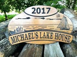 custom outdoor wooden hanging signs authentic personalized lake house cabin sign last name beach wood outdoor wooden signs