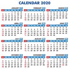 Best Design Of Calendar 2020 Calendar 2020 Calender 2020