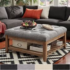 ottoman coffee table. Shop Lennon Pine Planked Storage Ottoman Coffee Table By INSPIRE Q Artisan - On Sale Free Shipping Today Overstock.com 13447192