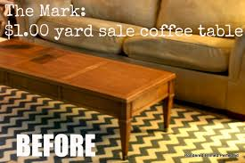 he found this solid wood coffee table at a yard for 1 00 and brought it home to me perfect perfect height and length