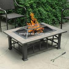 Stacked Stone Fire Pit rectangular fire pit stacked stone rectangle w wind sears coffee 4169 by xevi.us