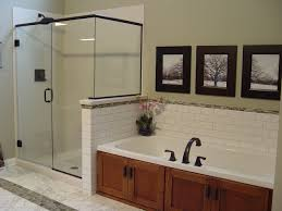 Finished Cabinet Doors Fieldstone Cabinetry Custom Shower W Acrylic Sides And Base The
