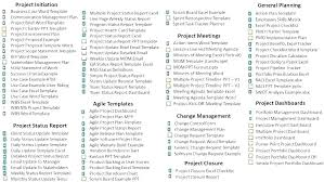 Project Management Report Templates Project Update Template Excel Program Management Reporting