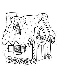 Small Picture Gingerbread House with Wheel Coloring Page NetArt