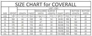 33 Unusual Mens Coverall Size Chart