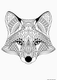 Small Picture Fox pattern cool coloring pages online free girls mandala