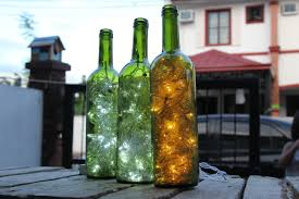 Wine Bottle Lamp Diy How To Make Wine Bottle Accent Lights 15 Steps With Pictures
