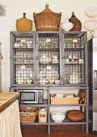 Ultimate Guide to Wire Shelving Kitchen Buying Tips : Old Fashioned Rattan  Basket Placed On Wire