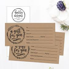 Hadley Custom Designs Hadley Designs 25 4x9 Rustic Cute Blank Gift Certificate