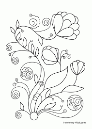 Adult Spring Flowers Coloring Pictures Coloring Pictures Spring