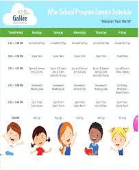 After School Program Schedule Editable Weekly Planner Templates