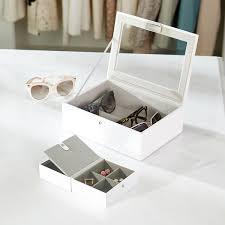 White Classic Stackers Lidded Eyewear Storage Box