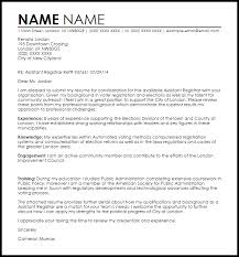 Assistant Registrar Cover Letter Awesome 233 Best Resume Cover