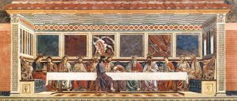 the scene of the last supper which portrays christ s last supper with his followers and disciples was painted during the early renaissance period by