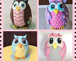 Pretty In Pink Owl Cupcake Toppers Owl Baby ShowerBaby Shower Owl Cake Toppers
