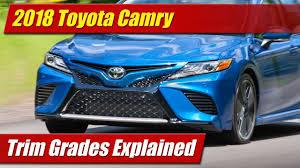 2018 Toyota Camry: Trim Grades Explained - YouTube