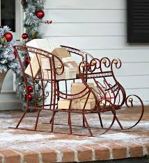 Home Accents Outdoor Christmas Decorations Red Metal Holiday Sleigh Outdoor Holiday Decorations Holiday 28