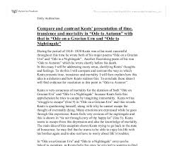 compare and contrast keats presentation of time transience and  document image preview