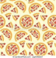 pizza pattern wallpaper. Fine Pizza Flat Vector Tasty Italian Pizza Seamless Pattern And Wallpaper S