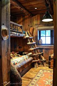 log loft bed with desk rustic bunk beds with log ladder instead of a top bed