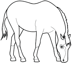 template horse template horse head template coloring pages of horses pattern