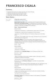 principal architect resume samples architecture resume example