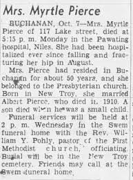 Obituary for Myrtle Pierce - Newspapers.com