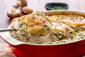chicken and rice casserole recipes. Easy Chicken And Rice Casserole Recipe How To Make Baked With Cream Of Mushroom Soup For Recipes