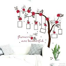 rose gold wall decal rose wall decals plus rose flowers tree photo frame wall stickers tree