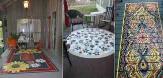 painted porch rugs