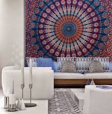 home accessory bedding mandala bedsheet bedcover tapestry tapestry wall hanging living room beach throw beach blanket wall decor wall decal