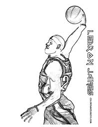 value lebron james coloring pages printable free sheets