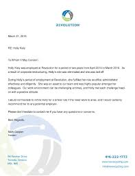 Letter Of Recommendation For Laid Off Employee Holly Kisly Letter Of Recommendation