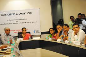 delhi police commissioner mr b s bassi extreme left giving presentation on the