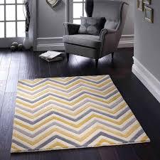 cabone yellow geometric wool rug by rug guru 1
