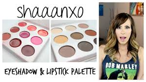 new bh cosmetics shaaanxo eyeshadow lipstick palette swatches review kitty kat does makeup you