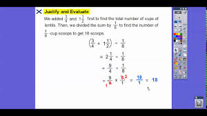multistep problem solving with fractionixed numbers lesson 4 4