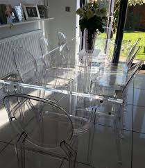 acrylic table and chairs