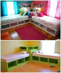 Bunk Bed Kids Twin Corner Bed Storage Bed With Corner Unit