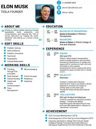 Elon Musk Resume Extraordinary Stunning Elon Musk Resume Templates Business Insider Builder