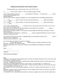 3 Days Pay Or Quit Form 20 Printable 3 Day Notice To Pay Or Quit Forms And Templates